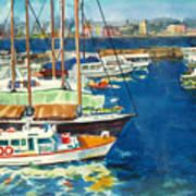 Hong Kong Victoria Harbor Art Print