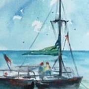 Honolulu Catamaran Art Print