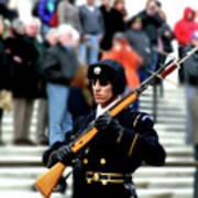 Honor Guard At Arlington Cemetery Art Print