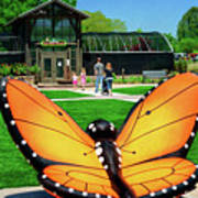 Honor Heights Butterfly House Art Print