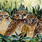 Hoo Is Looking At Me? Art Print