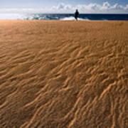 Ho'okahi - A Stroll Along A Beach Art Print