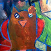 Hoots The Fall Owl Art Print