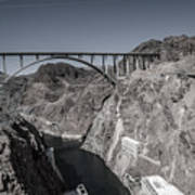 Hoover Dam Bridge Art Print