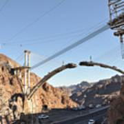 Hoover Dam Bypass Highway Under Construction Art Print