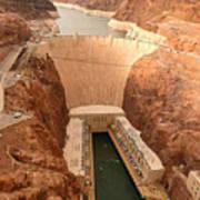 Hoover Dam Scenic View Art Print