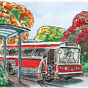 Hop On A Bus Art Print