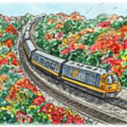Hop On A Train Art Print