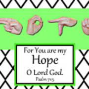 Hope - Bw Graphic Art Print