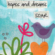Hopes And Dreams Soar Art Print by Linda Woods