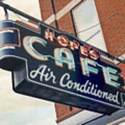 Hope's Cafe Art Print