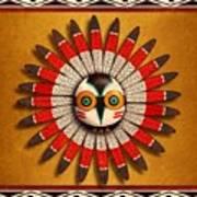 Hopi Owl Mask Art Print