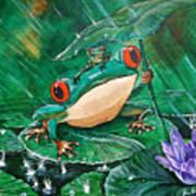 Hoppin' In The Rain Art Print
