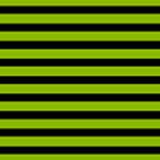 Horizontal Black Inside Stripes 09-p0169 Art Print