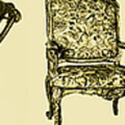 Horizontal Poster Of Chairs In Sepia Art Print