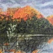 Horn Pond In Autumn Art Print