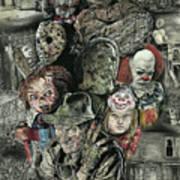 Horror Movie Murderers Art Print