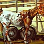 Horse And Trailer Art Print