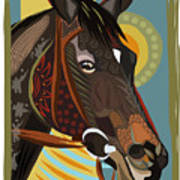 Horse Attitude Art Print