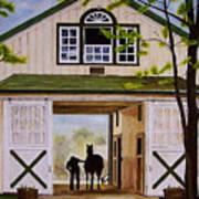 Horse Barn Art Print