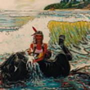 Horse Bath Art Print