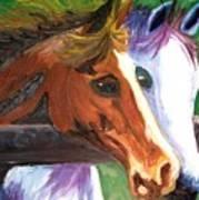 Horse Bff Art Print