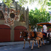 Horse Carriage At Kings Street Art Print