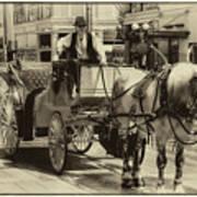 Horse Drawn Carriage Art Print