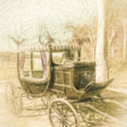 Horse Drawn Funeral Cart  Art Print