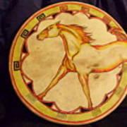 Horse Drum Art Print