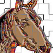 Horse Faces Of Life 4 Art Print