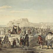 Horse Fair On Bruntsfield Links, Edinburgh Art Print