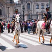 Horse Guard At Parade Art Print