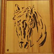 Horse Head Art Print by Russell Ellingsworth