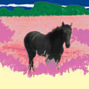 Horse In A Dreamfield 7 Art Print