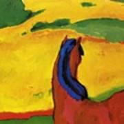 Horse In A Landscape 1910 Art Print