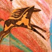 Horse Jumping Over Colors Art Print