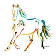 Horse Of Many Colors - 2 Art Print