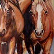 Horse Oil Painting Art Print
