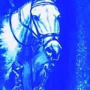 Horse Painting Jumper No Faults Aquamarine Art Print