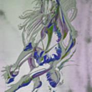 Horse Portrait 02v Art Print