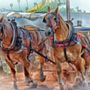 Horse Pull At The Fair Art Print