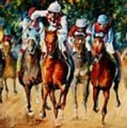 Horse Race Art Print