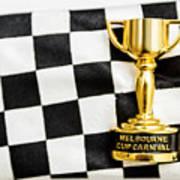 Horse Races Trophy. Melbourne Cup Win Art Print