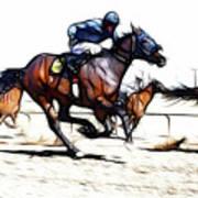Horse Racing Dreams 1 Art Print