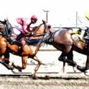 Horse Racing Dreams 2 Art Print