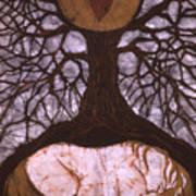 Horse Sleeps Below Tree Of Rebirth Art Print by Carol  Law Conklin