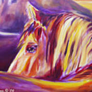 Horse World Detail Art Print