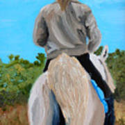Horseback Ridding Art Print