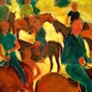 Horseback Riders Art Print